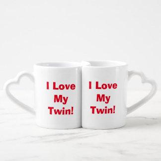 """I Love My Twin"" Nesting Mug Set Couples Mug"