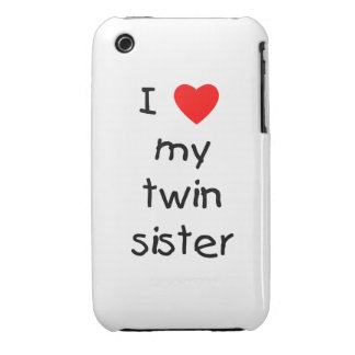 I Love My Twin Sister iPhone 3 Case