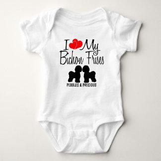 I Love My TWO Bichon Frises Baby Bodysuit