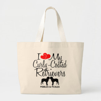 I Love My Two Curly-Coated Retriever Dog Bag