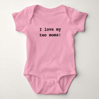 I love my two moms! baby bodysuit