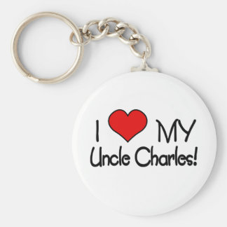 I love My Uncle Charles Basic Round Button Keychain
