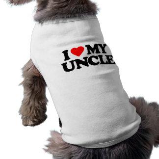 I LOVE MY UNCLE DOG SHIRT