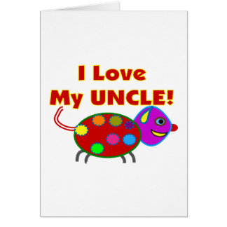 """I love my UNCLE""  Kids T-Shirts/gifts Greeting Cards"