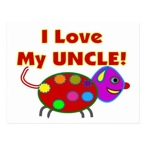 Quot I Love My Uncle Quot Kids T Shirts Gifts Postcard Zazzle