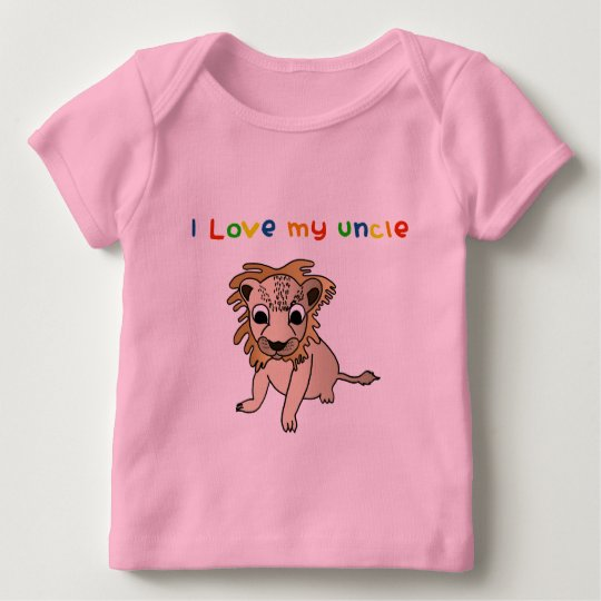 I Love My Uncle Long Sleeve Baby Shirt