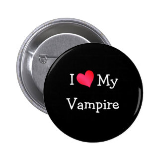 I Love My Vampire 2 Inch Round Button