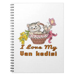 I Love My Van kedisi Notebook