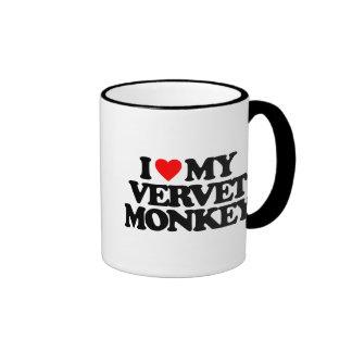 I LOVE MY VERVET MONKEY MUG