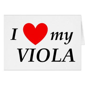 I Love My Viola (I Heart My Viola) Card