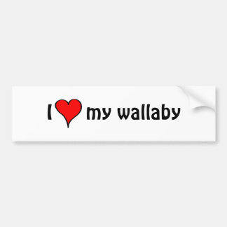 I Love My wallaby Bumper Sticker