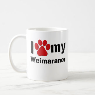 I Love My Weimaraner Coffee Mug