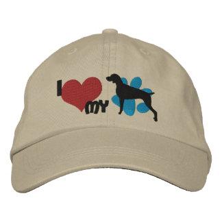 I Love my Weimaraner Embroidered Hat