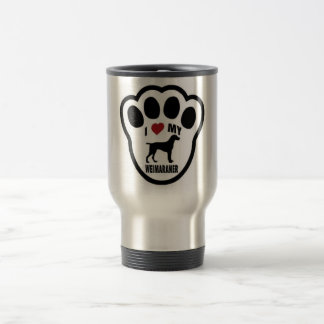 I love my Weimaraner paw print Travel Mug