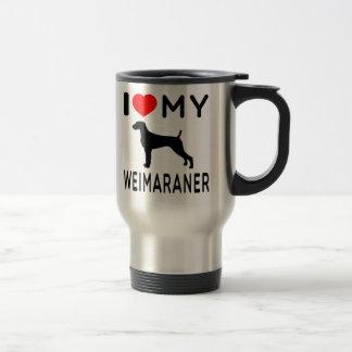 I Love My Weimaraner Travel Mug