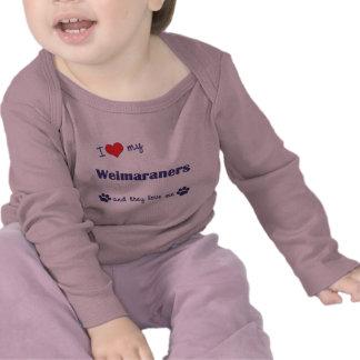 I Love My Weimaraners (Multiple Dogs) Tshirt