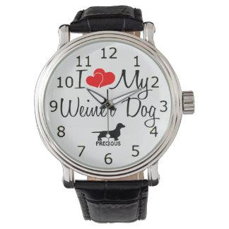 I Love My Weiner Dog Watch