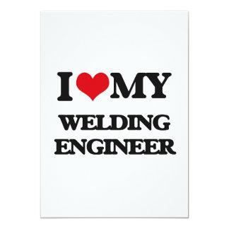 "I love my Welding Engineer 5"" X 7"" Invitation Card"