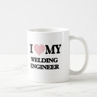I love my Welding Engineer (Heart Made from Words) Basic White Mug