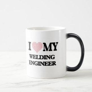 I love my Welding Engineer (Heart Made from Words) Morphing Mug