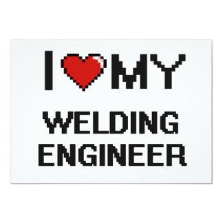 I love my Welding Engineer 5x7 Paper Invitation Card
