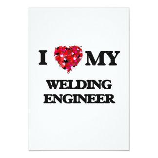 "I love my Welding Engineer 3.5"" X 5"" Invitation Card"