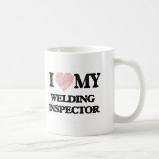 I love my Welding Inspector (Heart Made from Words Basic White Mug