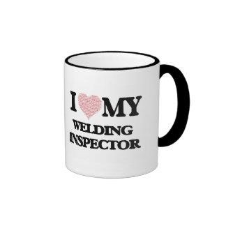 I love my Welding Inspector (Heart Made from Words Ringer Mug