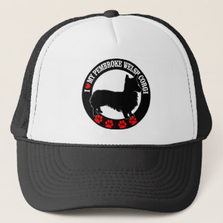 I Love My Welsh Corgi Casual Clothing Trucker Hat