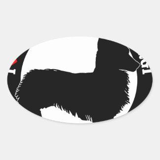 i love my welsh corgi oval sticker