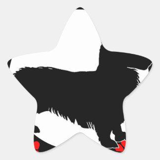 i love my welsh corgi star sticker