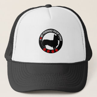 i love my welsh corgi trucker hat