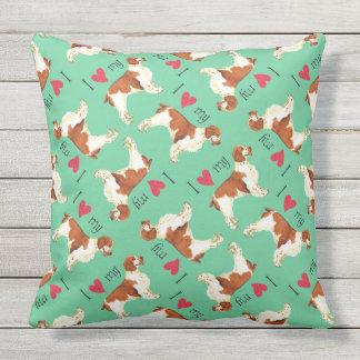I Love my Welsh Springer Spaniel Throw Pillow