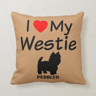 I Love My Westie Dog Pillow