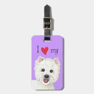I Love my Westie Luggage Tag