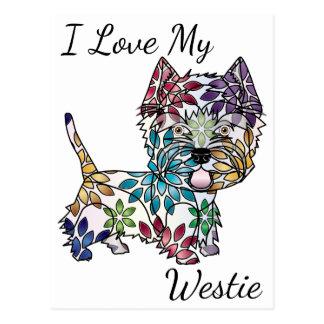 I Love My Westie Postcard