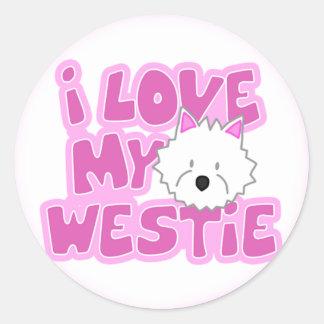 I Love My Westie Stickers