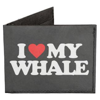I LOVE MY WHALE TYVEK® BILLFOLD WALLET