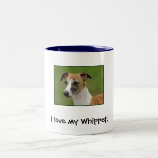 I love my Whippet! Two-Tone Coffee Mug