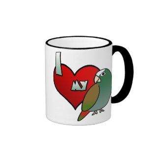I Love my White Capped Pionus Mug