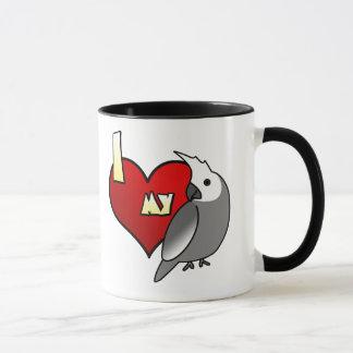 I Love my Whiteface Cockatiel Mug