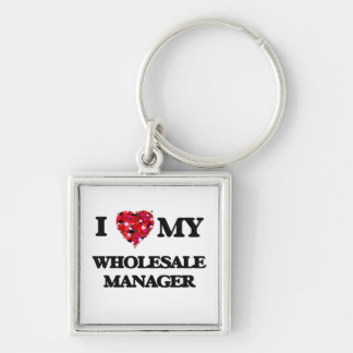 I love my Wholesale Manager Silver-Colored Square Keychain
