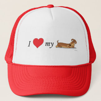 I love my wiener dog trucker hat