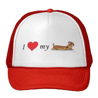 I love my wiener dog trucker hat
