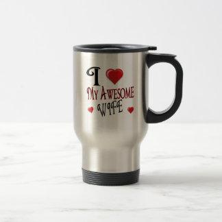 I Love My Wife Logo popular affordable 15 Oz Stainless Steel Travel Mug