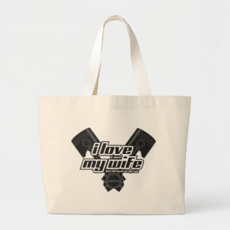 I love my wife - RIDE Large Tote Bag