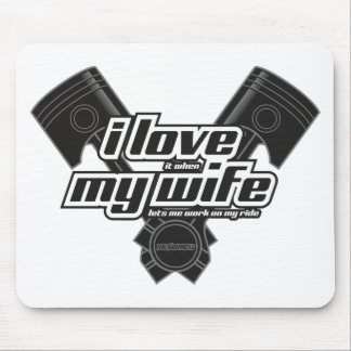 I love my wife - RIDE Mouse Pad