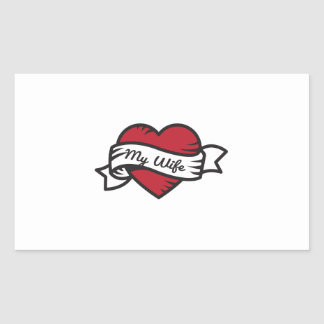 I Love My Wife Tattoo Sticker