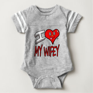 I Love My Wifey Baby Bodysuit