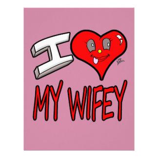 I Love My Wifey Letterhead
